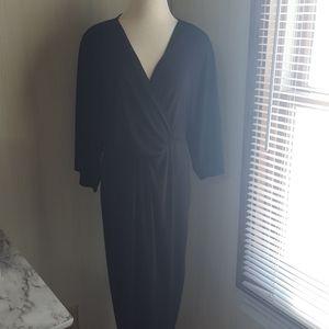 Express- kimono sleeve midi dress